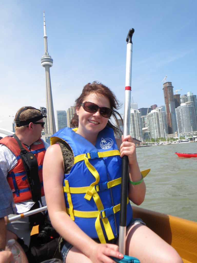 Me during the canoe tour around the Toronto Islands