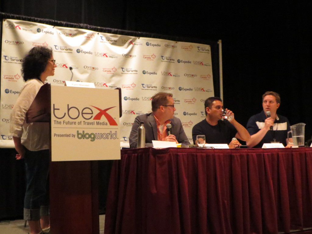 Question and answer time at a TBEX writing seminar