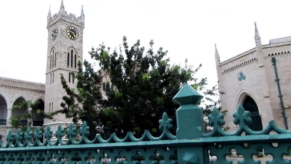 The parliament buildings in Bridgetown.