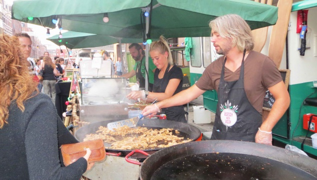Serving Gyro at the festival.