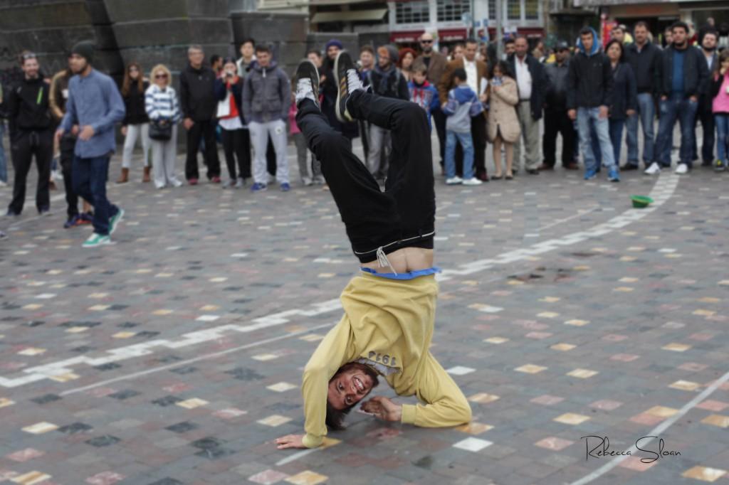 Dancing in the streets in Monastiraki Square, Athens