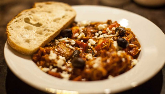 Greek stew with olives and Feta cheese