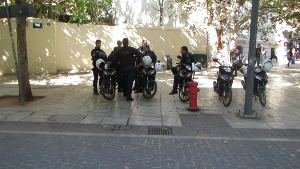 Police officers in Athens