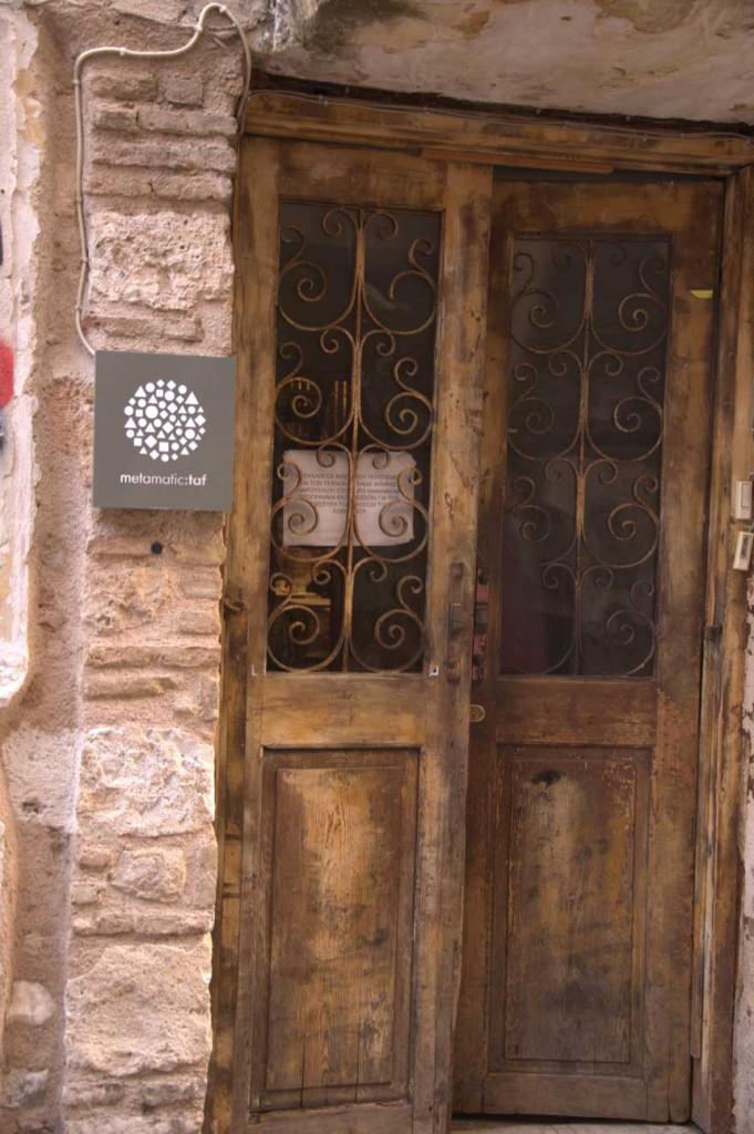 The door to the TAF bar