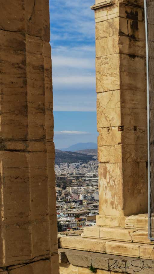 A view of Athens from the Acropolis