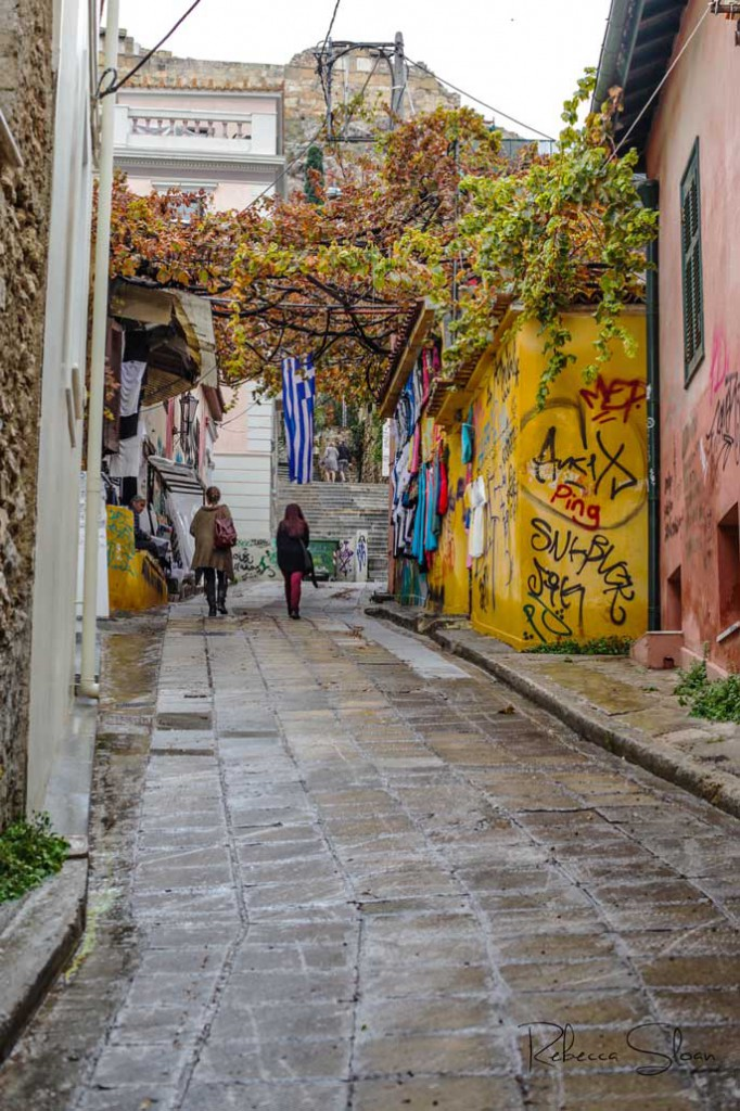 The Plaka is a popular area in Athens.