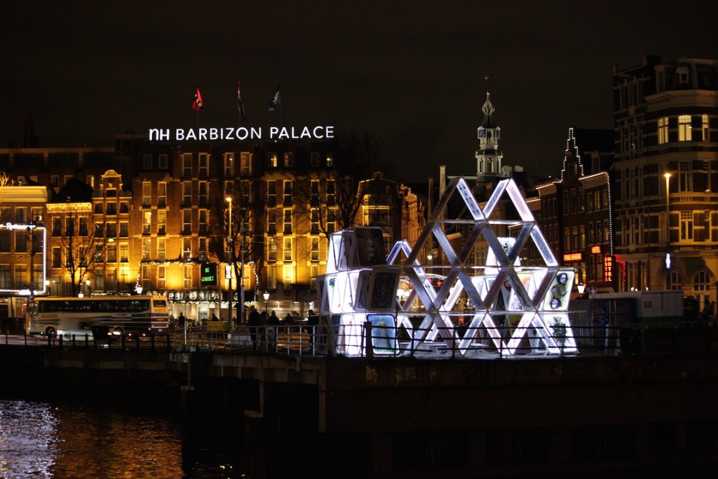 A display at the 2014 Amsterdam Lights Festival.