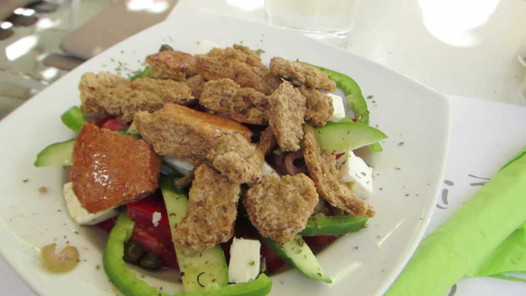 A tasty Greek salad.