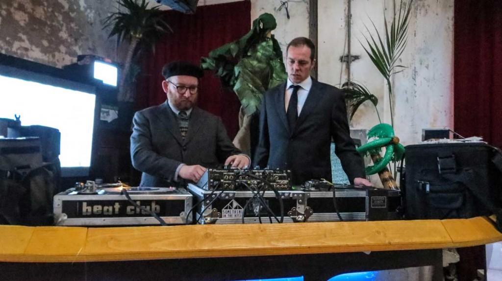DJs spinning tunes
