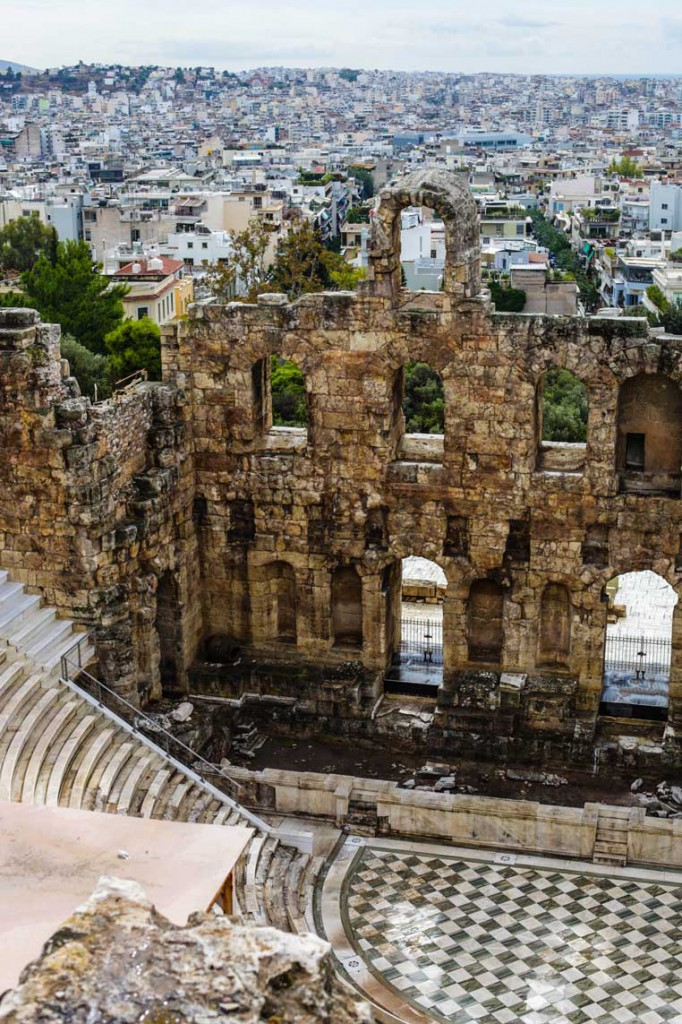 A view from above of the Odeon of Herodes Atticus