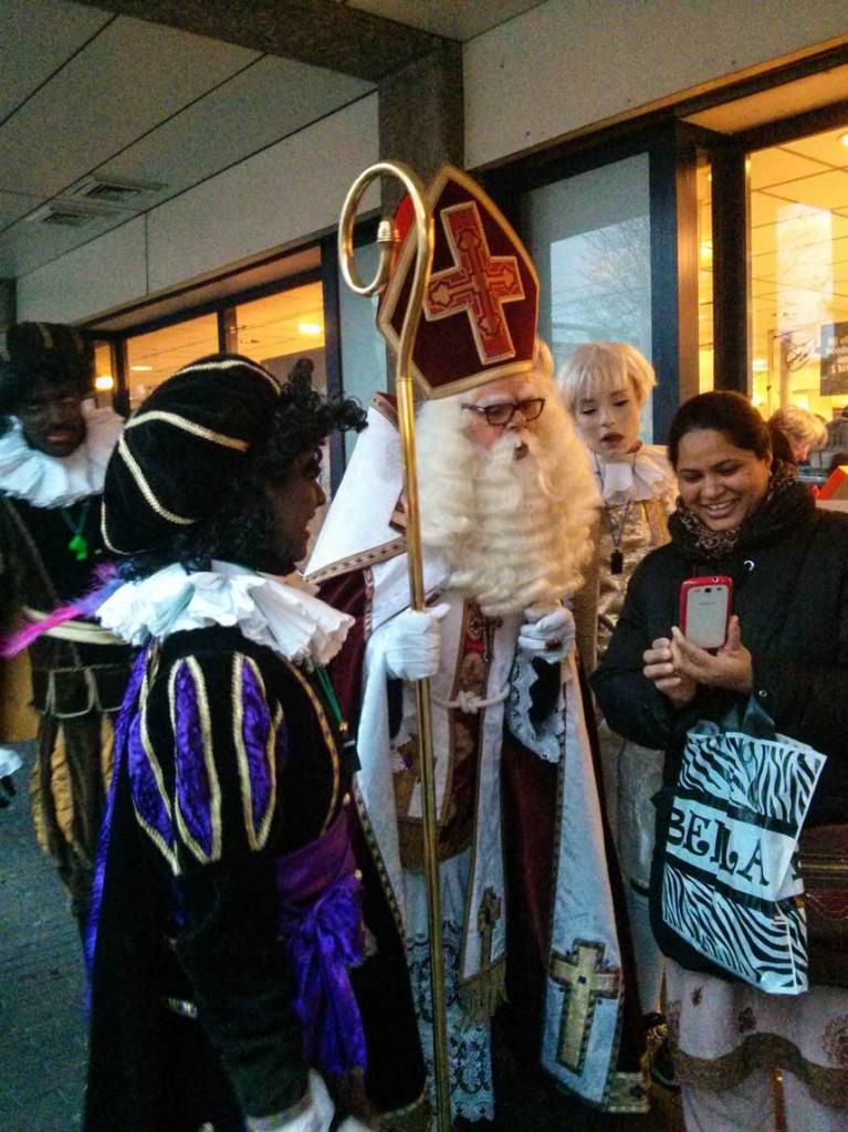 Sinterklass visits
