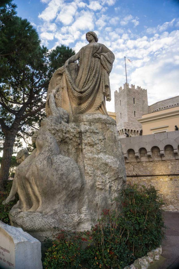 A statue at the Prince's Palace of Monaco.