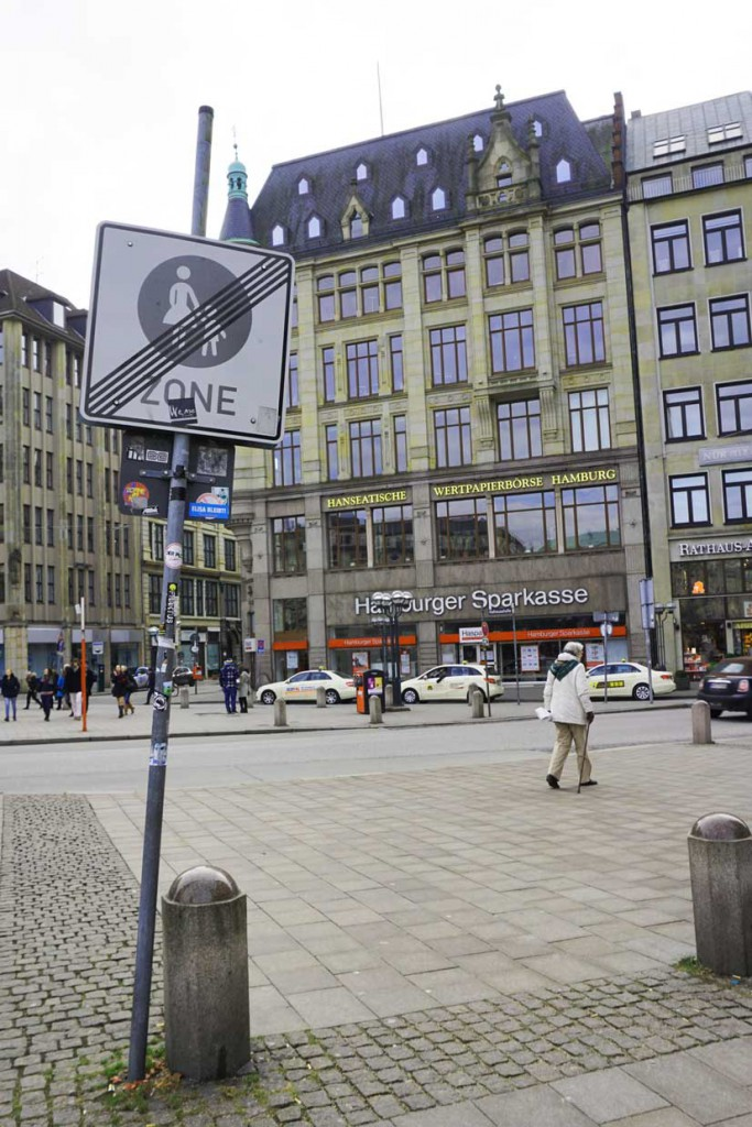 A sign in Hamburg