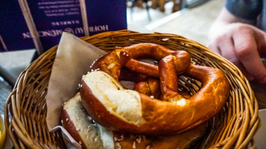 A pretzel in Hamburg.