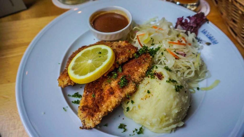 A schnitzel in Hamburg