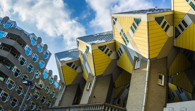 Cubed apartments in Rotterdam